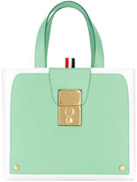 Thom Browne bicolour tote - women - Leather - One Size