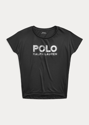 Ralph Lauren Metallic Logo Interlock Tee