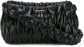 Miu Miu Medium Black Matelassé shoulder bag
