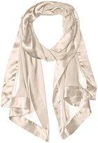 Echo Women's Silk Chiffon Evening Wrap with Satin Border