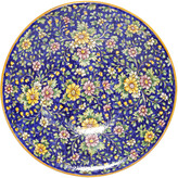 Floral Majolica Ceramic Plate