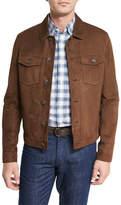 Ermenegildo Zegna Suede Utility Jacket, Chestnut