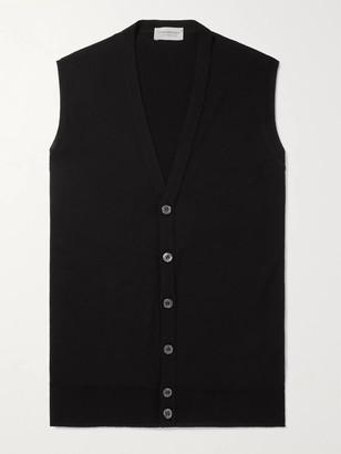 John Smedley Stavely Merino Wool Sweater Vest - Men - Black
