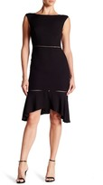 ABS by Allen Schwartz Back Cutout Hanky Hem Dress