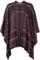 Cecilia Prado knit poncho - women - Acrylic/Lurex/Viscose - One Size