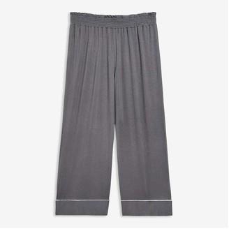 Joe Fresh Women's Smocked Waist Sleep Culottes, Slate Grey (Size S)