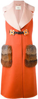 Fendi fur-trimmed embellished gilet - women - Fox Fur/Lamb Skin/Virgin Wool - 40