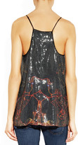 Clover Canyon Dubai In The Sky printed sequined top