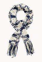 Forever 21 Open-Knit Striped Scarf