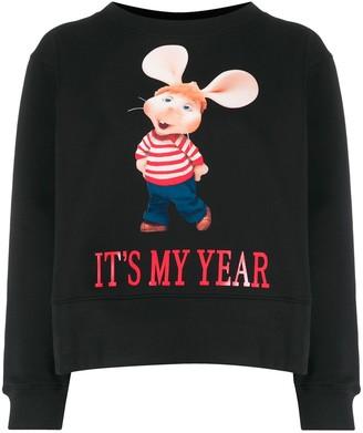 Alberta Ferretti Topo Gigio print cotton sweatshirt