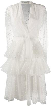 Philosophy di Lorenzo Serafini tulle polka dot layered dress
