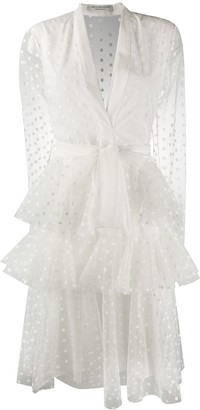 Philosophy di Lorenzo Serafini Tulle Polka Dot Layered Dress