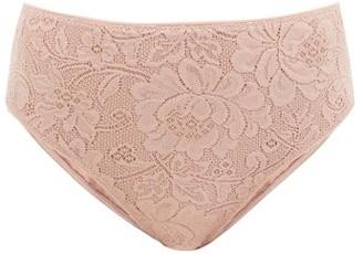 Araks Tali High-rise Floral-lace Briefs - Nude