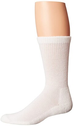 Thorlos Advanced Diabetic Crew Single Pair (White) Men's Crew Cut Socks Shoes