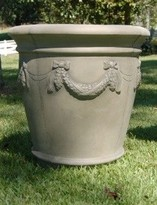 The Well Appointed House Decorative Garden Planter with Large Garland Design