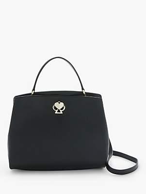 Kate Spade Romy Leather Medium Satchel, Black