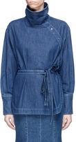 Stella McCartney Waist sash turtleneck chambray top