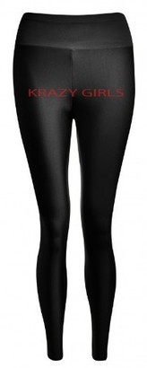 Crazy Girls Womens High Waisted American Shiny Super Stretch Long Ladies Leggings (S/M-8/10