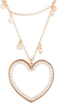 Latelita Heart Large Double Strand Pendant Choker Rosegold