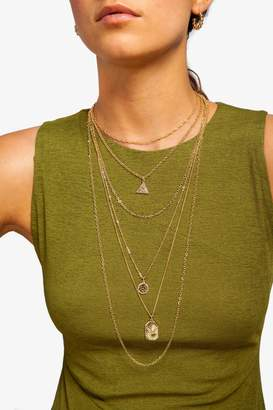 Freedom Womens **Egyptian Multirow Necklace - Gold