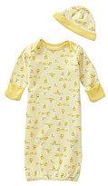 Little Me Newborn-3 Months Duckie Gown & Hat Set