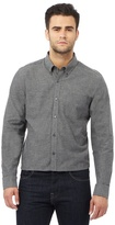 J By Jasper Conran Big And Tall Grey Long Sleeve Houndstooth Shirt