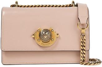 Balmain Ring Box 20 Glossed-leather Shoulder Bag