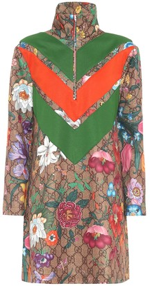 Gucci GG Flora technical-jersey dress