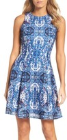 Maggy London Women's Print Fit & Flare Dress