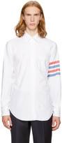 Thom Browne White Classic Four Bar Point Collar Shirt