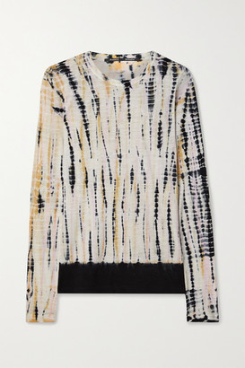 Proenza Schouler Tie-dyed Cotton-jersey Top - White