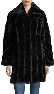 Jones New York Faux Fur Walker Coat