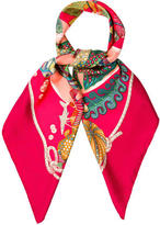 Hermes Grand Fonts Silk Scarf