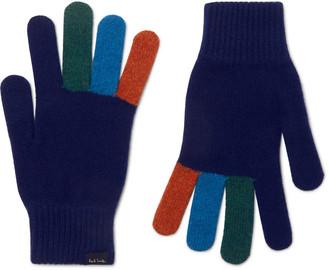 Paul Smith Colour-Block Wool Gloves