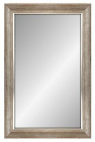 "Threshold Rectangular Mirror White Finish with Silver Trim 18""x24"