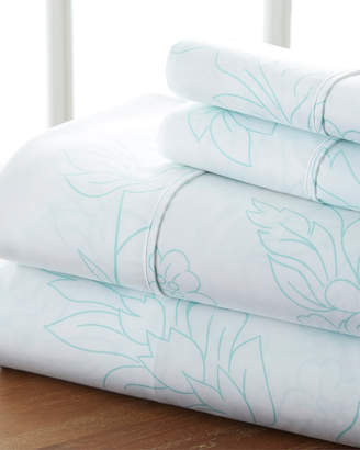 Home Collection Premium Ultra Soft Vine Pattern 4Pc Bed Sheet Set