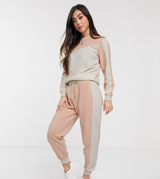 ASOS DESIGN Petite tracksuit colour blocked sweat / jogger