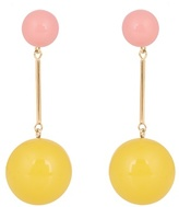 J.W.Anderson Contrast-sphere drop earrings
