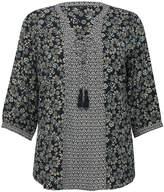 M&Co Plus floral print border tunic top