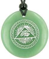 BestAmulets All Seeing Third Eye Amulet Quartz Pendant Necklace