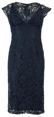 Dorothy Perkins Womens Tfnc Navy Lace Midi Bodycon Dress