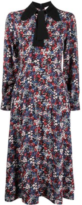 See by Chloe Floral-Print Silk Dress