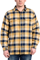 Stanley Yellow & Blue Plaid Fleece-Lined Button-Up