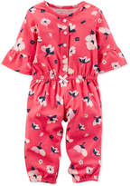 Carter's Floral-Print Cotton Jumpsuit, Baby Girls