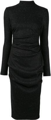 Acler Hogan fleck midi dress