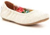 Toms Girl's Linen Ballet Shoes