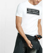 Express one voice can make a difference graphic t-shirt