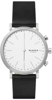 Skagen Women's Hald Hybrid Leather Strap Smart Watch, 40Mm