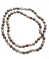 M Pearl Multi-Color Rice Pearl Necklace