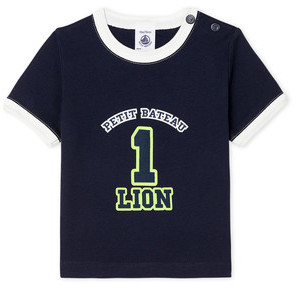 Petit Bateau FUDGE boys's T shirt in Blue